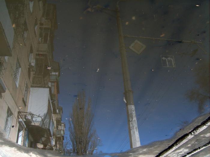 лужа, отражение, красивый город одесса