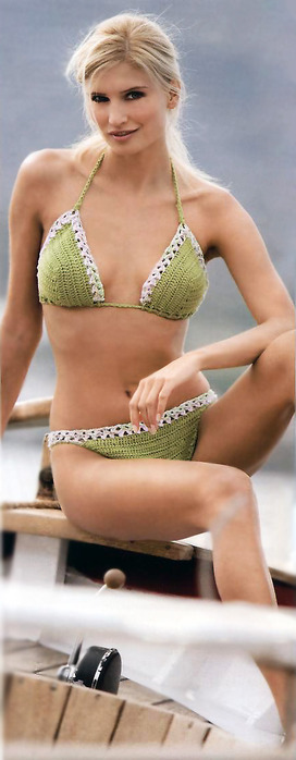 free crochet patternrs: light green swimsuit