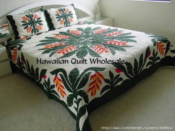 Гавайская орхидея. Пэчворк, Пэчворк, лоскутное шитье, гавайский квилт, гавайская орхидея
