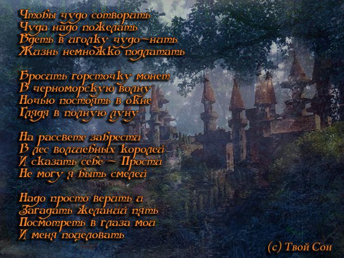 (Лес волшебных королей. Твой Сон)