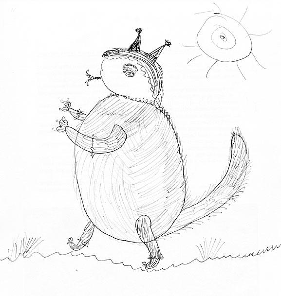 детский рисунок белочка