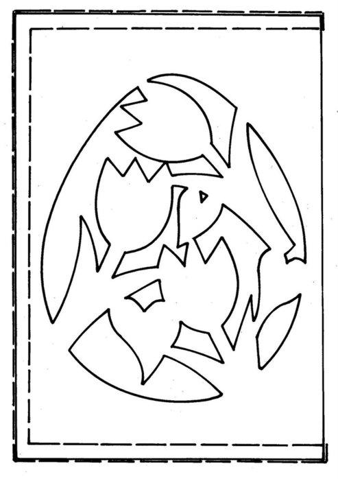 Пасхальное киригами