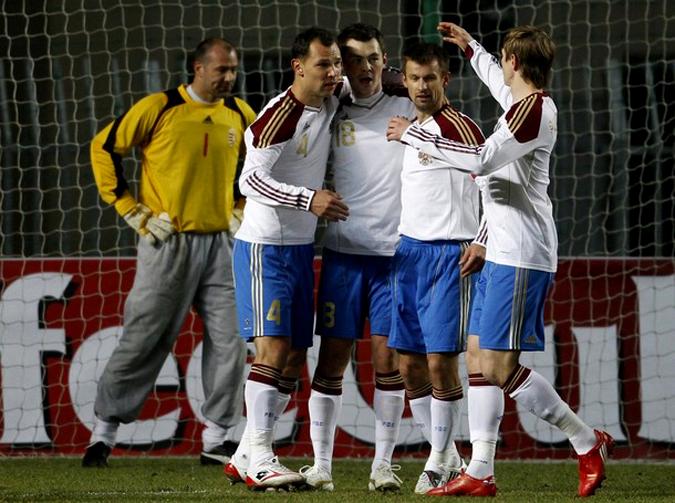Товарищеский матч Венгрия-Россия, Дьер, Венгрия,  3 марта 2010 года, Игрой вничью Г.Хиддинк завершил работу в России