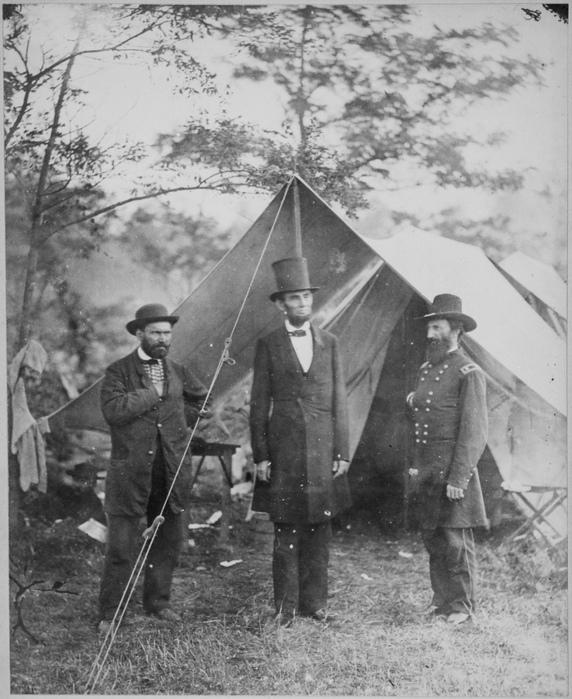 President Lincoln, Allan Pinkerton, and Maj. Gen. John A. McClernand.