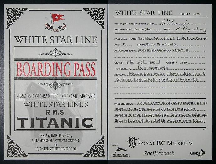 """Билет на """"Титаник""""."""