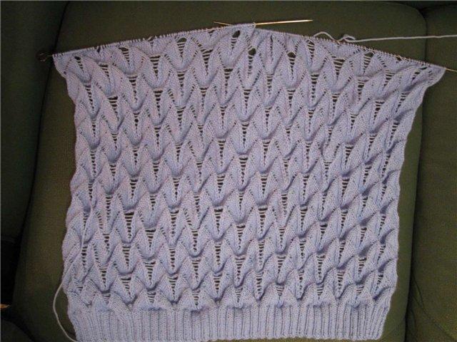 Вязание-спицы Рисунок один,
