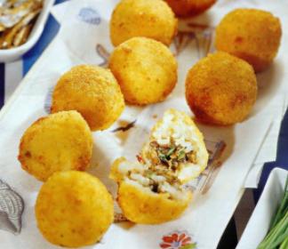 Итальянская закуска из риса - Аранчини