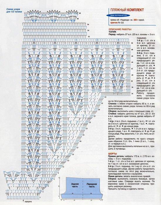 схема вязания топика