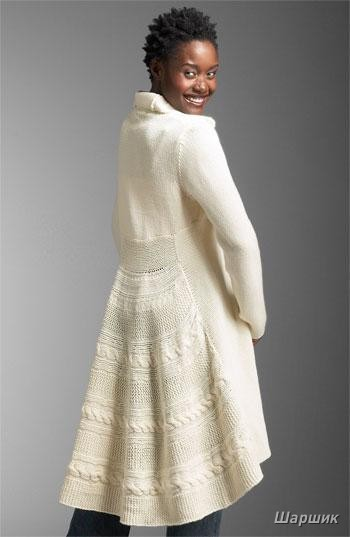 Вязание-спицы Пальто