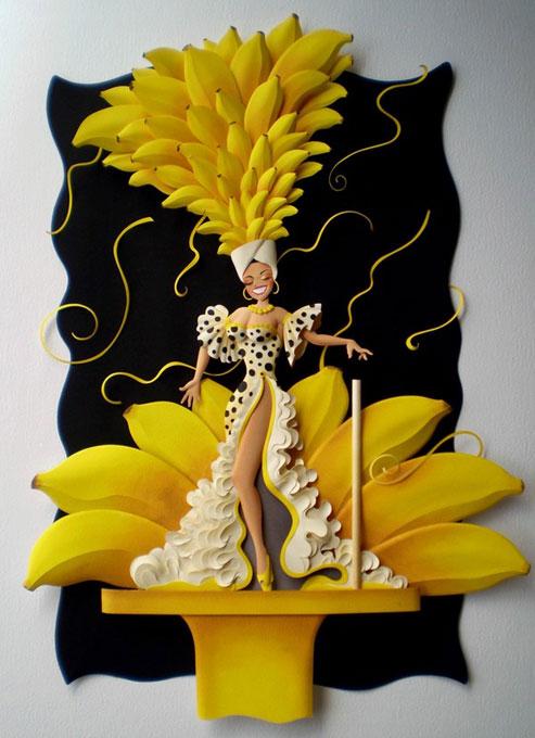 Бразильский карнавал из цветной бумаги