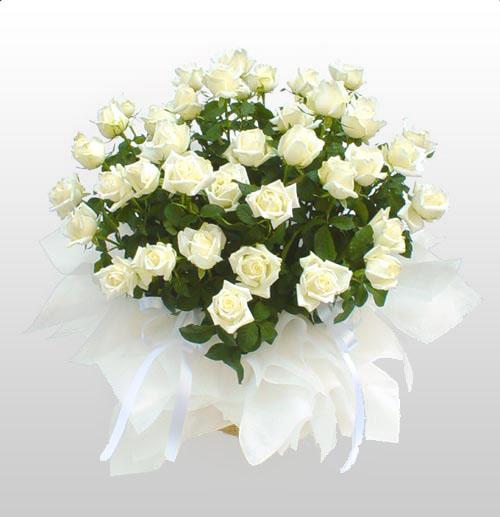 Букет из белых роз....