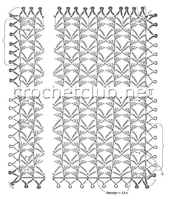Метки: схема вязания палантина