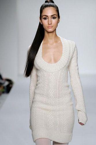Вязание спицами - платье.