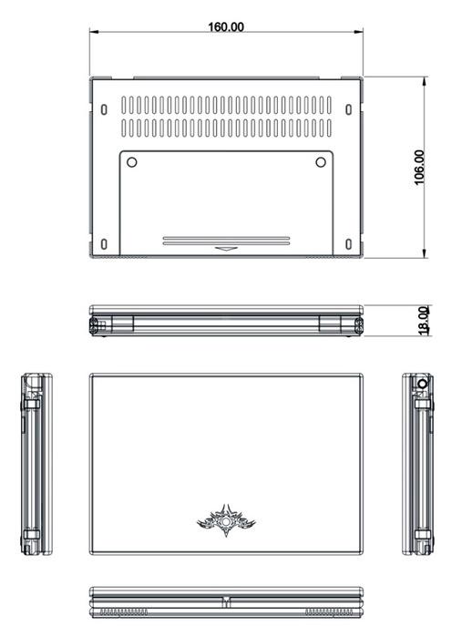 Yang Yongchang представил схему ноутбука с раскладной клавиатурой