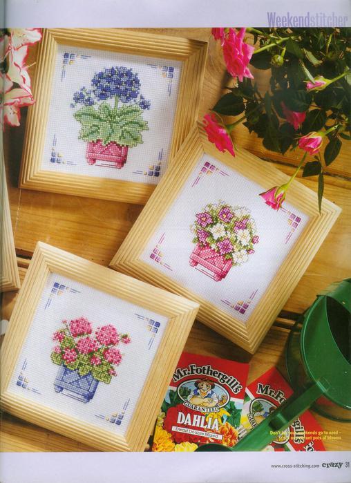 Цветочные миниатюры - ВЫШИВКА