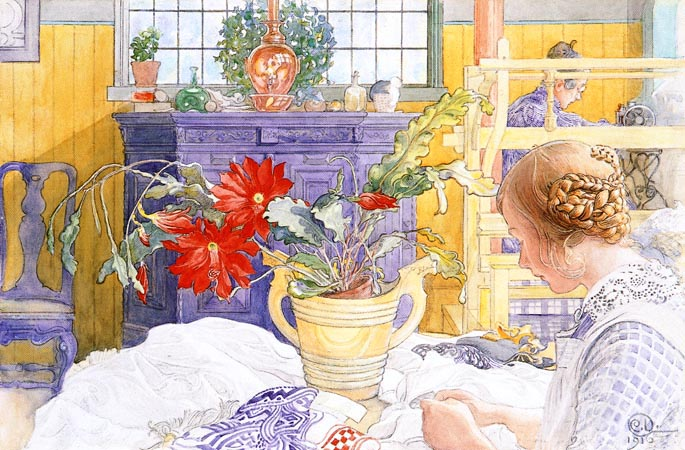 Художник Carl Larsson. Household