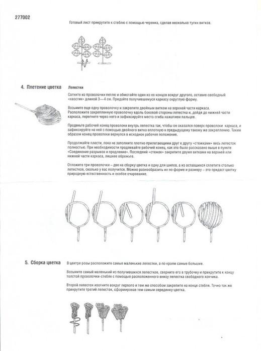 Инструкция из набора цветы из фольги
