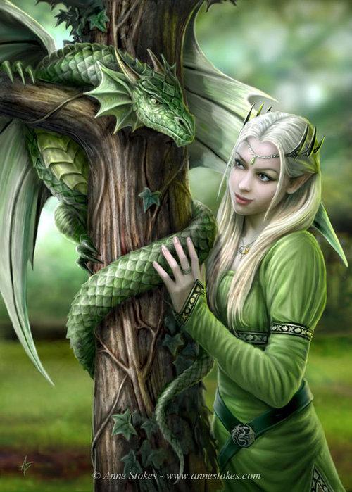 Зеленый Дракон Удачи - Страна Фантазия - исполнение