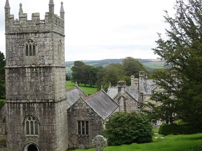 Замок Lanhydrock, графство Корнуолл. 19505