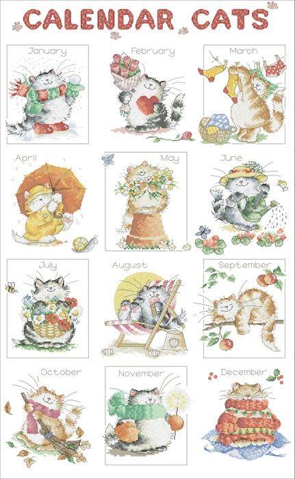 Кошачий календарь.
