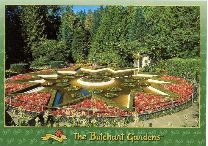 Сады Бучартов на острове Ванкувер. The Butchart Gardens. 12793