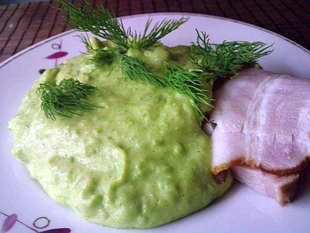 Пюре с луком и зеленым горошком
