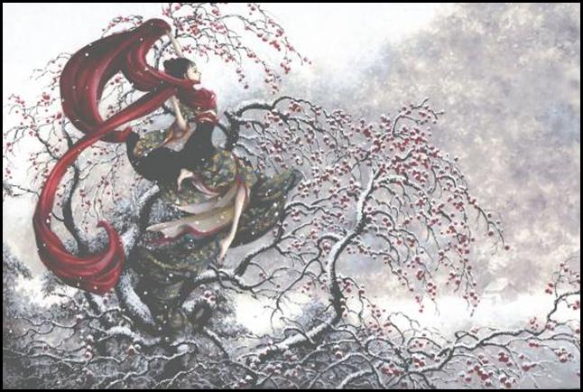 Иллюстрации в стиле ар-нуво от Такуджи Нао (Tukiji Nao)