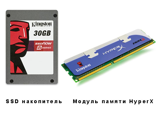 SSD накопителей и модульпамяти HyperX
