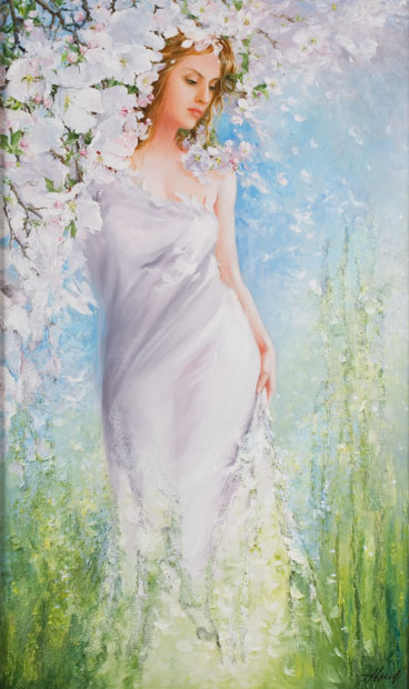 Картинки про весну девушку