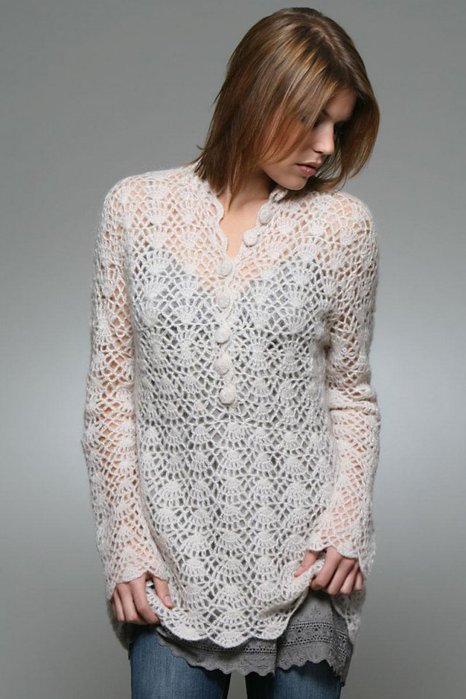 lace sweater crochet patterns