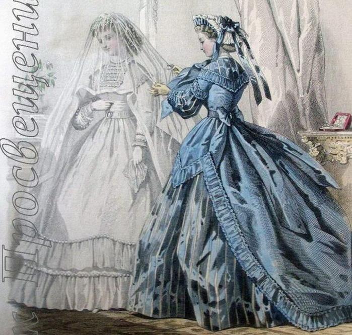 Иллюстрации из французских модных журналов