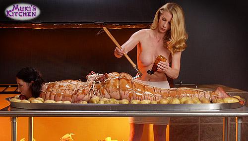 вкусная женщина вызывает голод