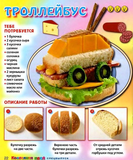 вкусные и смешные бутерброды