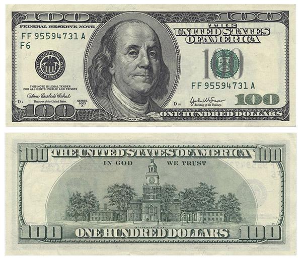старые привычные сто долларов скоро их не станет