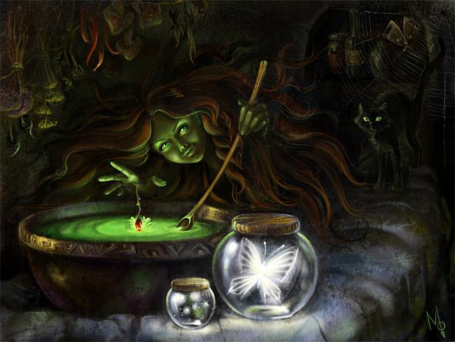 Колдующая ведьма