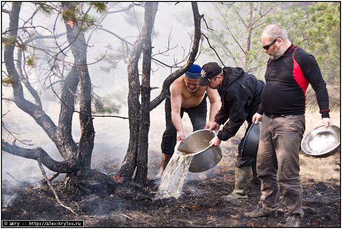 Река Пра - тушение пожара