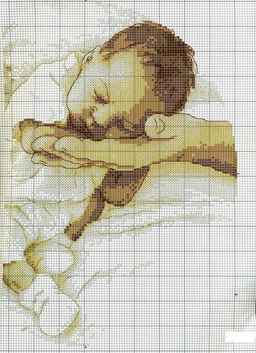 Спящий малыш от Марии Диаз