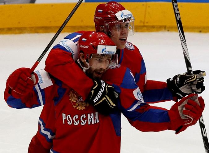 Чемпионат мира по хоккею, Россия 5 - 2 Канада, матч в Кельне 20 мая 2010.