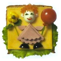 бутерброд клоун