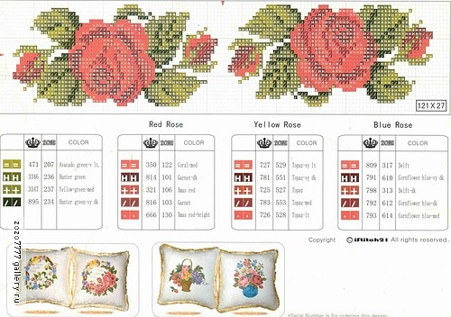 roses everywhere – cross-stitch