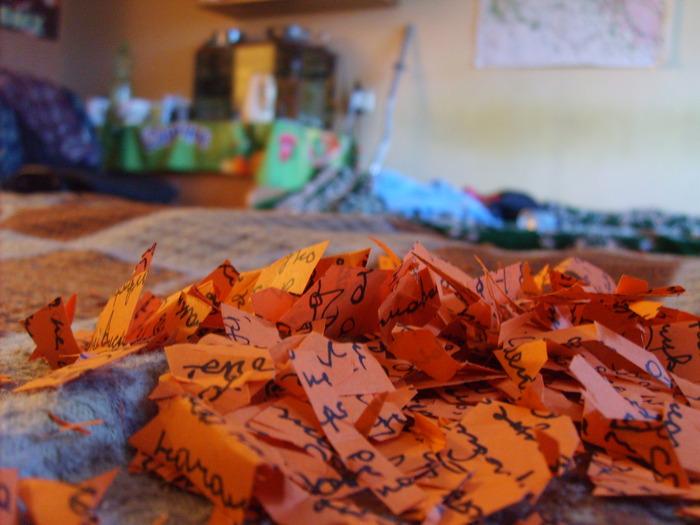 письмо, обрезки, бумага, мусор, огонь