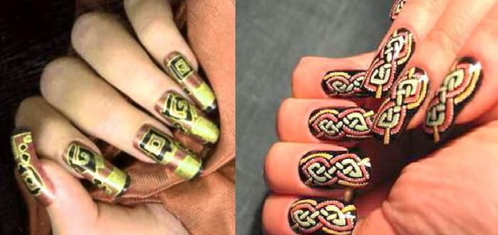 художественный дизайн ногтей: