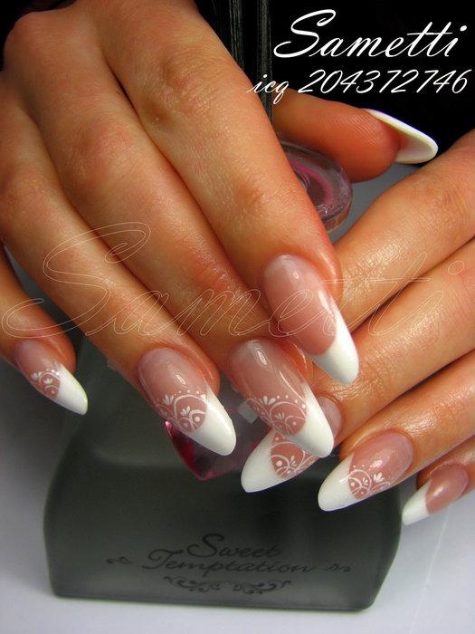 наращивание ногтей свадебный дизайн:
