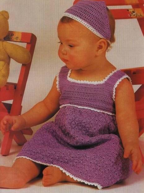 Вязание крючком детский сарафан