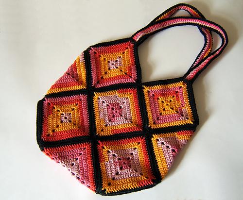 Вязание крючком сумки из мотивов