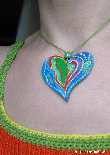 подвеска сердечко на шею