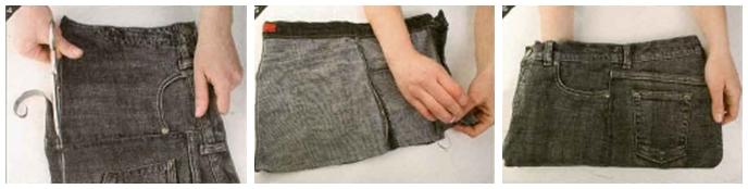 Новая сумка из старых джинсов
