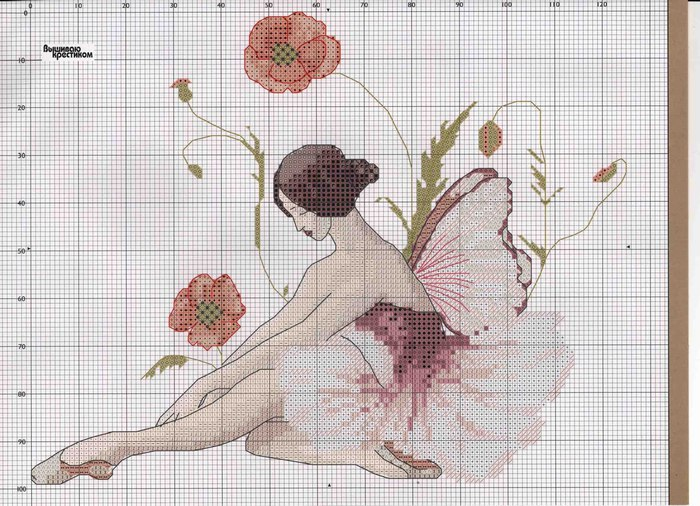 embroidered pictures: fairies cross stitch kits