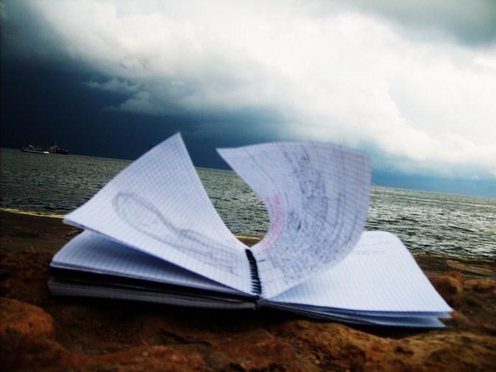 тетрадь море творчество, рисунок. картинка