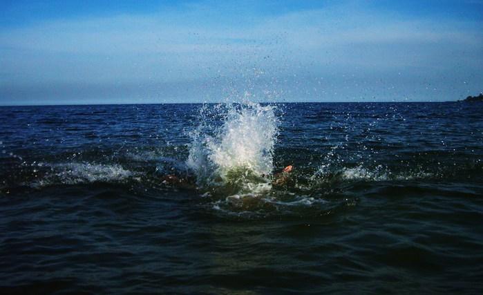 всплеск, море, синяя вода